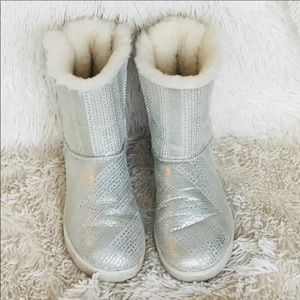 UGG White Limited Christmas Edition Bailey Boots 7